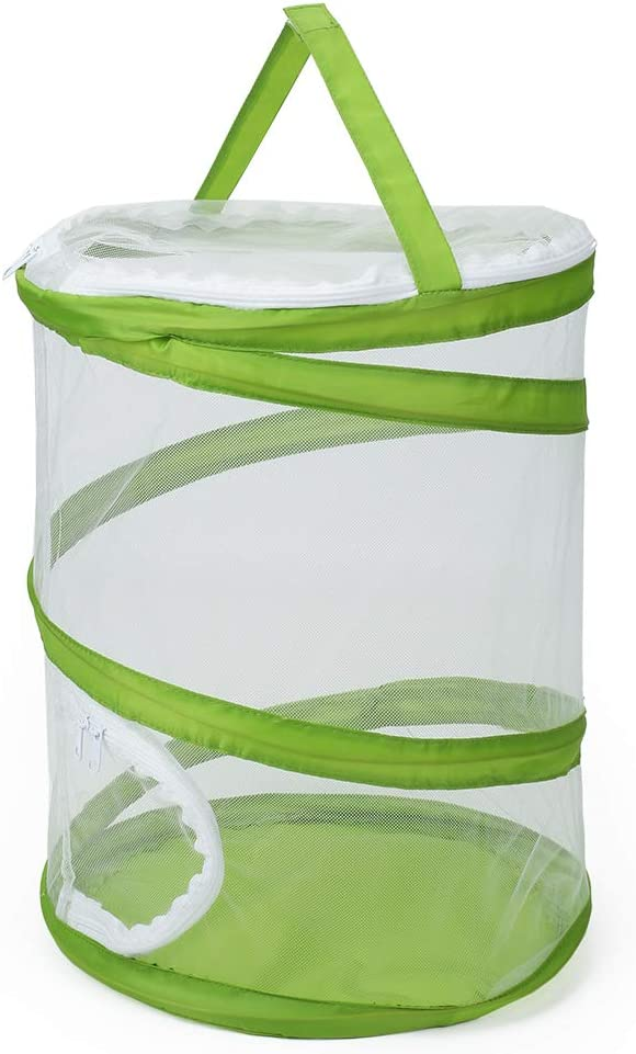 """RESTCLOUD Pop-up Insect and Butterfly Habitat Cage Terrarium Upgraded Version, See Through Easier 12"""" x 14"""" Tall"""