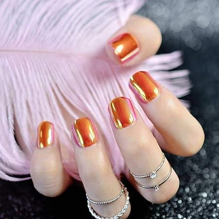 JZJZJ uñas postizas de mármol Rosa Artificial uñas Falsas para ...