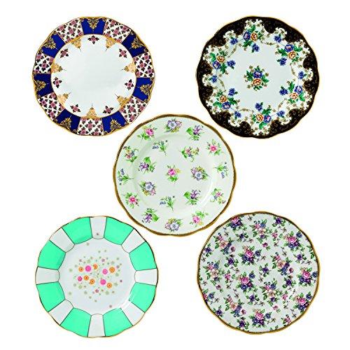 "Royal Albert 40017560 100 Years 1900-1940 Plate Set, 8"", Multicolor , 5 Piece"