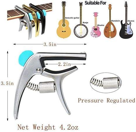 SUNYIN - Cejilla para guitarra acústica con ranura para púas ...