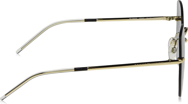57 Femme TOMMY HILFIGER TH 1667//S lunettes de soleil Or Rose