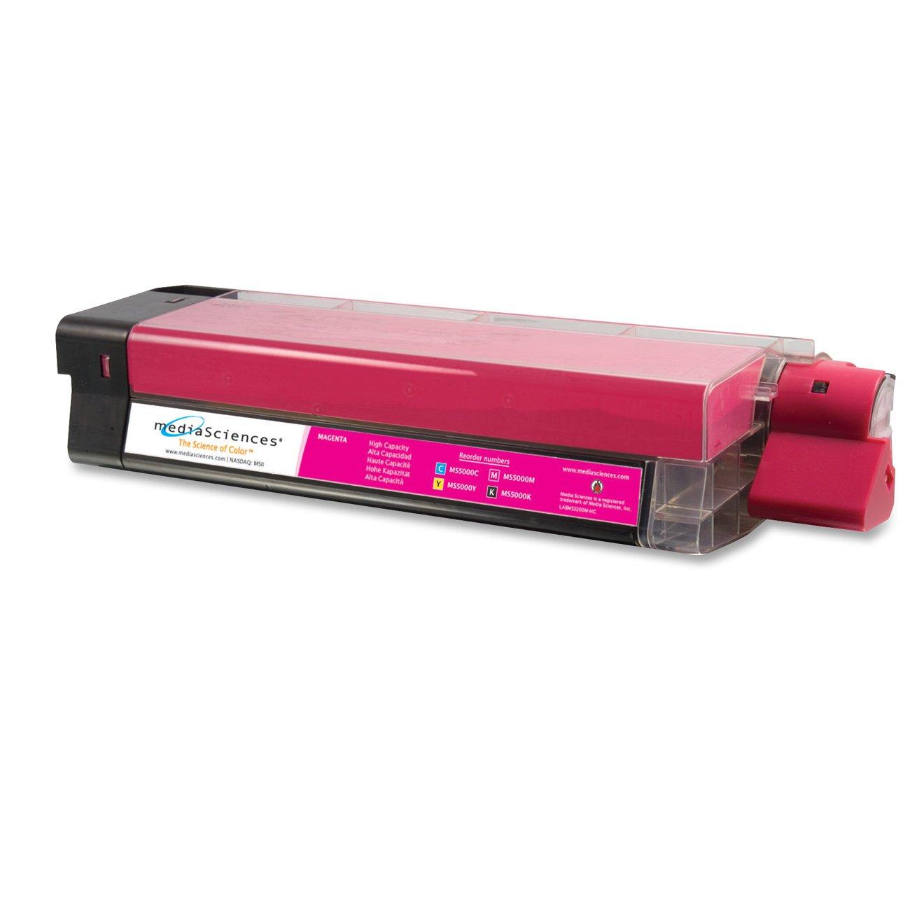 MEDIA SCIENCES MS5000M Laser toner, okidata c5000 series, 42127402 compatible, magenta