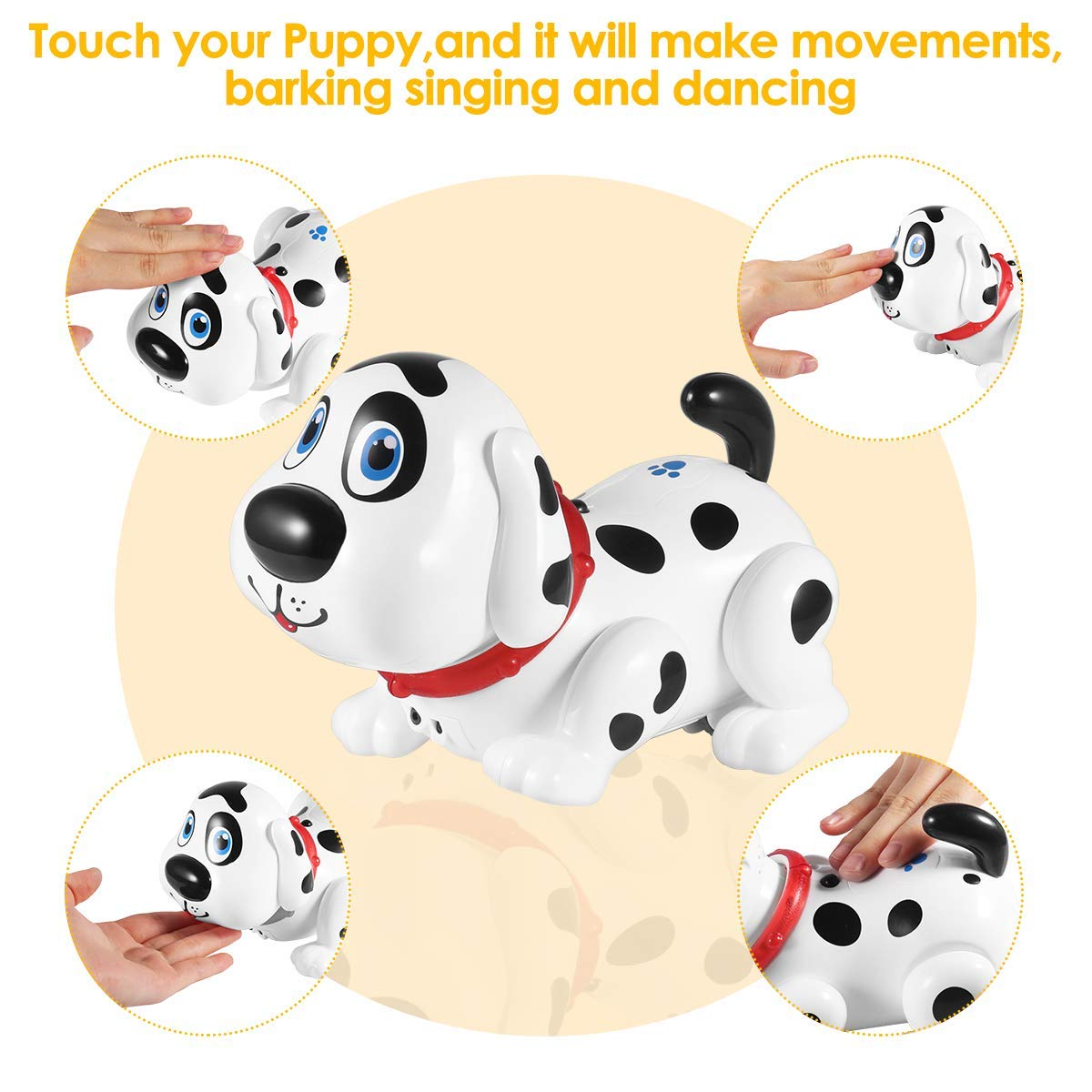 Electronic Dog,Interactive Puppy, Touch with Chasing, Walking, Dancing, Music, Interactive and Induction Toys for Boys or Girls Birthday Gifts by MIGO (Image #7)
