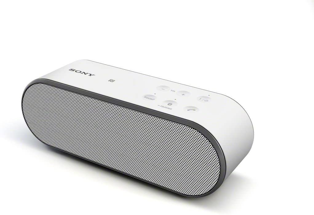 Sony SRSX2 Ultra-Portable NFC Bluetooth Wireless Speaker White with Speakerphone
