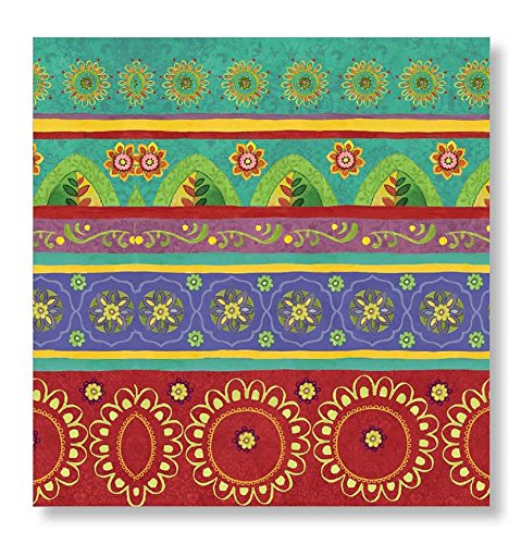 C.R. Gibson Tunisian Sunset Beverage and Cocktail Napkins, 20pc, 5.5'' W x 5.5'' L ()