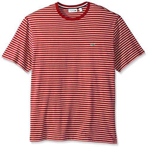 Lacoste-Mens-Crewneck-Jersey-Stripe-T-Shirt