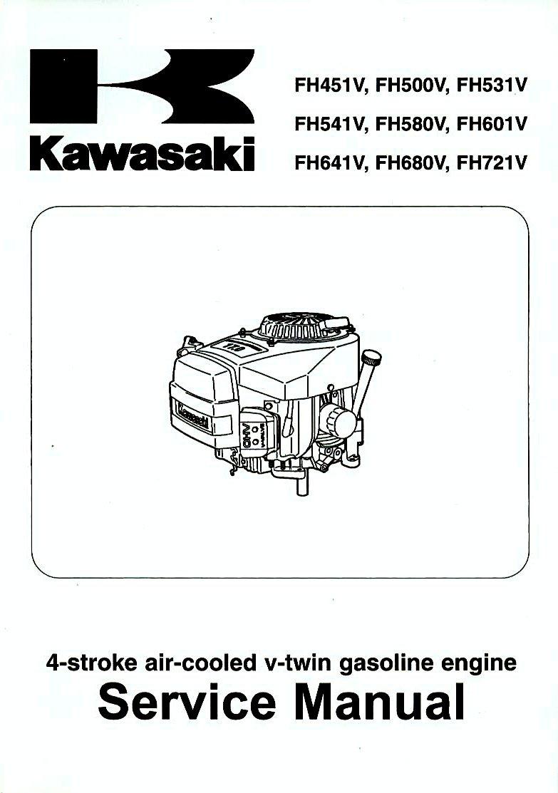kawasaki service manual 4 stroke air cooled gasoline engines rh amazon com kawasaki fh541v repair manual Kawasaki FH541V Engine Parts