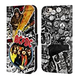 Official AC/DC ACDC Icons Collage Leather Book Wallet Case Cover For Apple iPhone 6 / 6s