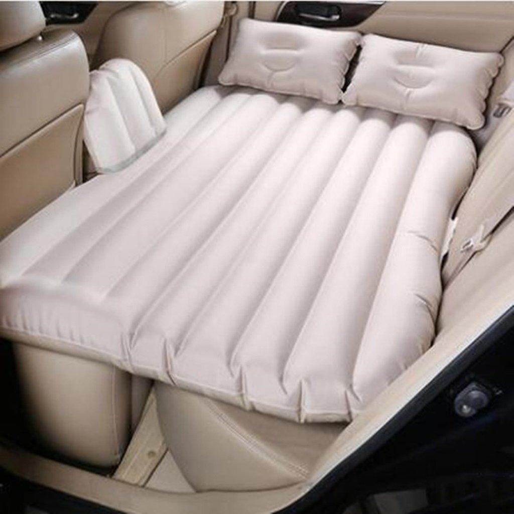 Ye Auto Matratze Auto Luft Bett Multifunktionale Reise Camping Auto Hinten Sitz Aufblasbare Matratze Für Reise und Schlaf Rest (135  85  45) (Luftbett × 1 Kissen × 2 Auto Luftpumpe × 1)