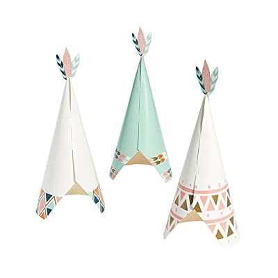 Fun Express - Tribal Baby Centerpiece (3pc) for Baby - Party Decor - General Decor - Centerpieces - Baby - 3 Pieces: Toys & Games