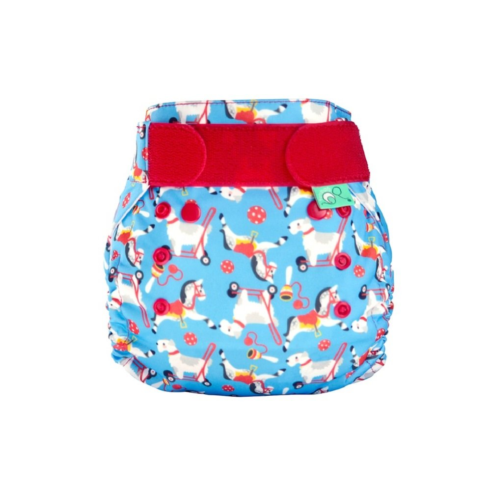 TotsBots PeeNut Reusable Wrap Size 2 with PeeNut 3 in 1 Pad - Complete Reusable Washable Nappy in Pippin Design