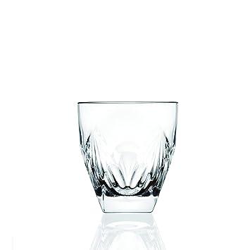 RCR 25024020006NEW Fior Di Loto Crystal Whisky Tumblers