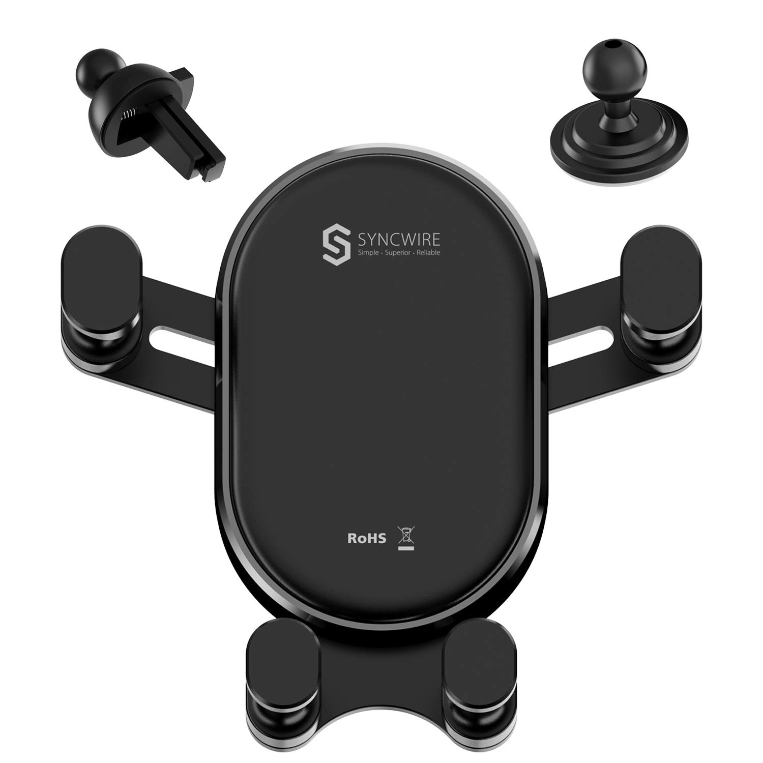 Samsung Galaxy S10 Plus//S10//S9//S8//S7 and More Automatic Locking Universal Cell Phone Holder Compatible iPhone Xs MAX//XS//XR//X//8//8 Plus Syncwire Air Vent Car Phone Mount