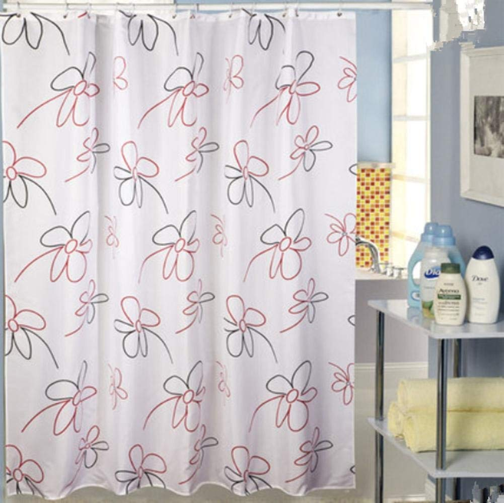 JaHGDU Shower Curtain 1pcs Printing Shower Curtain Waterproof Polyester Fabric Durable Partition Toilet Shade Super Quality Opaque Bathroom Amenities (Size : 150180cm) by JaHGDU (Image #2)
