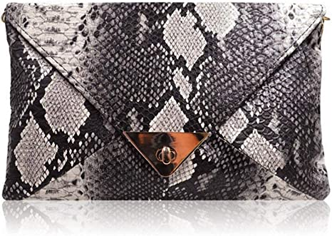 HYLong Women's Fashion Retro Snake Skin Envelope Bag Clutch Purse Evening Bag best dressy clutches