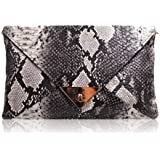HYLong Women's Fashion Retro Snake Skin Envelope Bag Clutch Purse Evening Bag