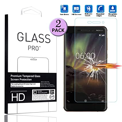 For Nokia 6 2018 Best 100% Genuine Tempered Glass Guard Screen Protection Cell Phones & Accessories