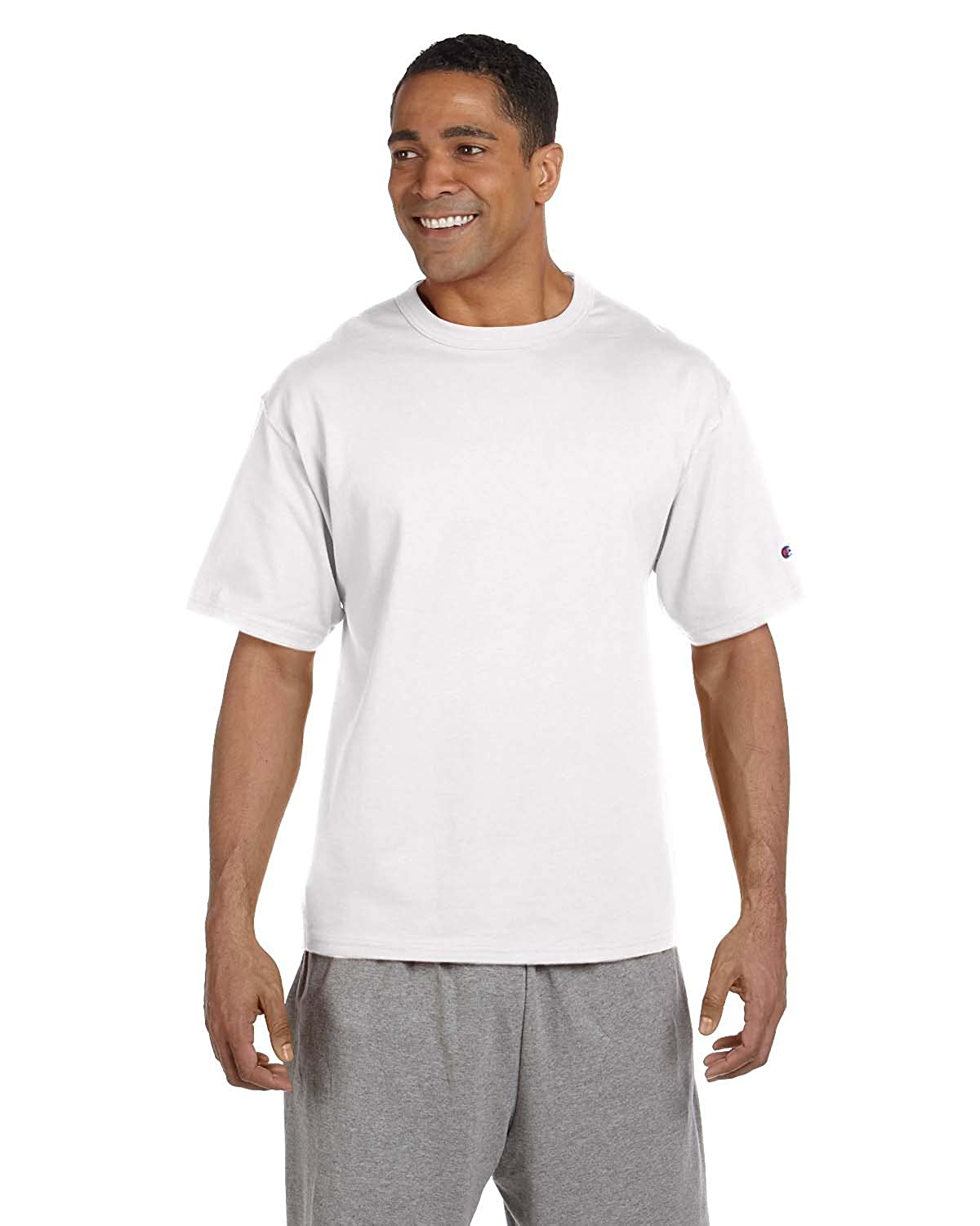 3e7fb979 Champion 7 oz Cotton Heritage Jersey T-Shirt in White - Large | Amazon.com