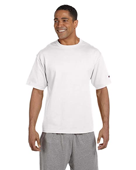 3e558690 Champion 7 oz Cotton Heritage Jersey T-Shirt in White - Large ...