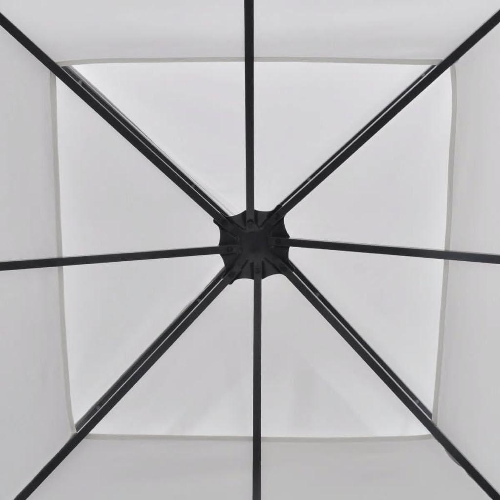 vidaXL Gazebo con Parasole a Vela Bianco 3x3 m Quadrato Ombrellone Tendone