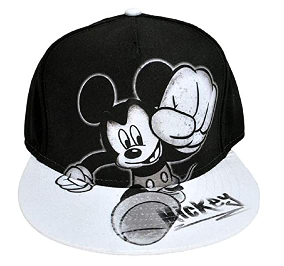18953b604e7 Amazon.com  Disney Youth Mickey Mouse Smash Flat Bill Baseball Hat ...