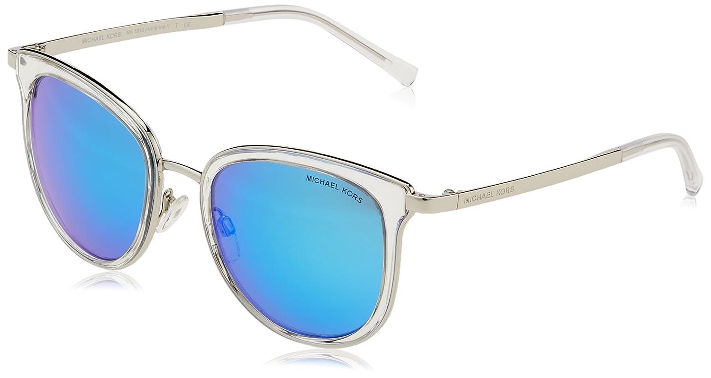 6026a18142de Michael Kors Adrianna I Sunglasses in Clear Silver MK1010 110525 54 54 Teal  Mirror: Amazon.ca: Luggage & Bags
