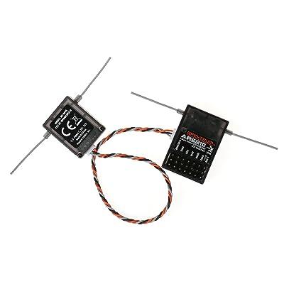 XBERSTAR AR6210 DSMX Receiver RX Support DSM2 for JR Spektrum Transmitter TX RC: Toys & Games