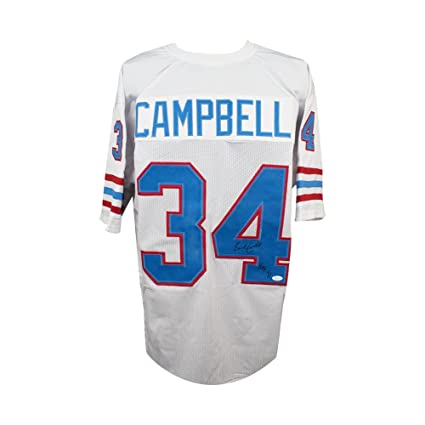 Image Unavailable. Image not available for. Color  Earl Campbell HOF Autographed  Houston Oilers Custom Football Jersey ... 9edb6c9ac