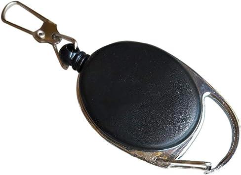 Mini portachiavi retrattile multifunzionale nero anti-perso portachiavi fibbia rinculo anello tirare clip portachiavi allaperto
