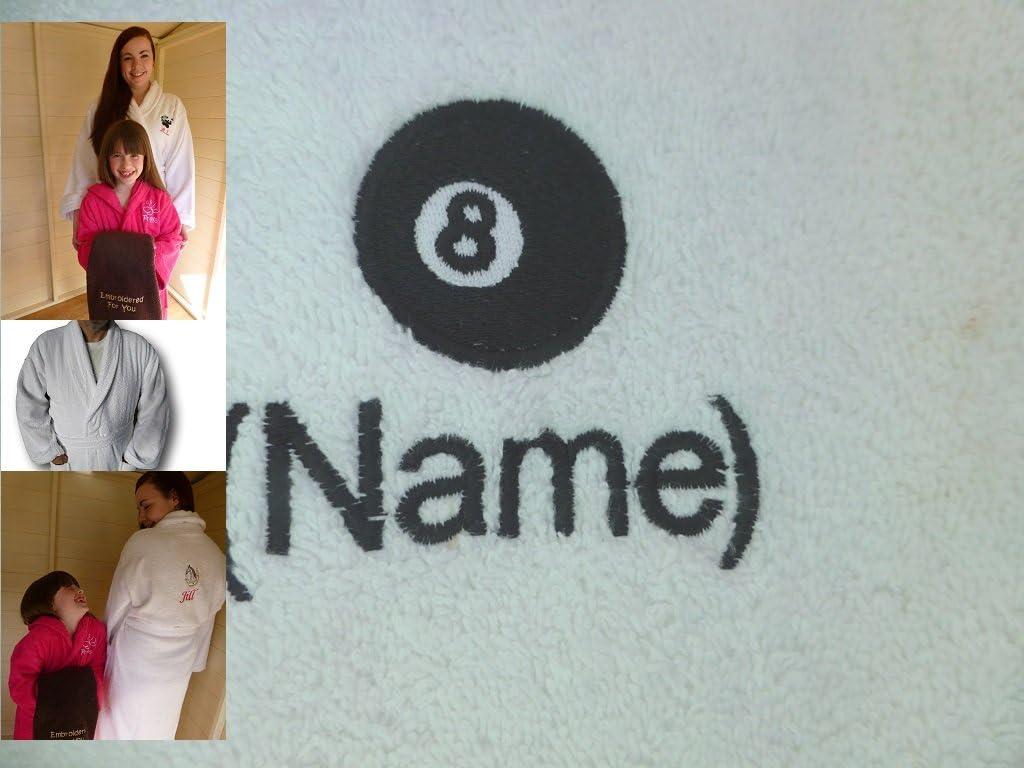 Adultos albornoz con un 8 bolas de billar Logo y nombre de su ...
