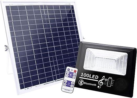 Foco Proyector Solar Exterior, Altavoz Bluetooth Inteligente Luces ...