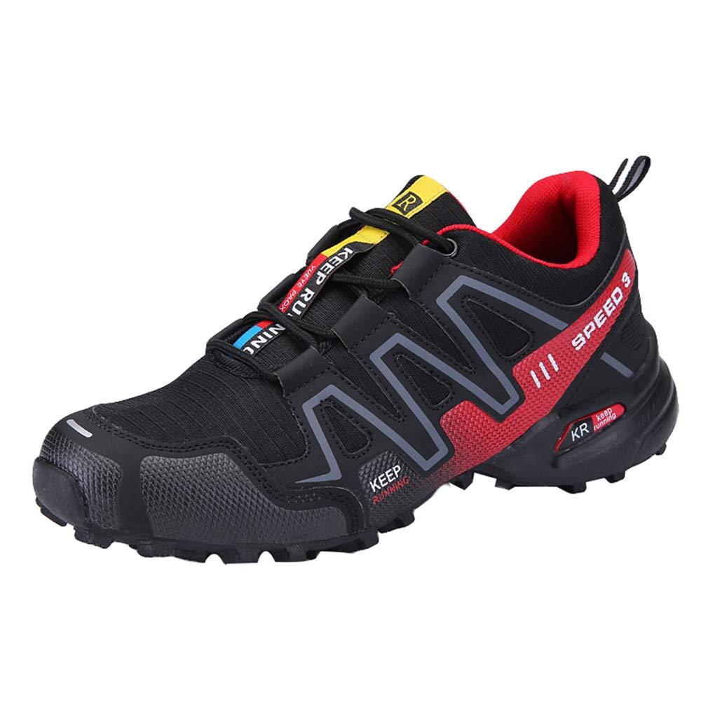 Chaussures de Course pour Hommes Chic Low-Top Chaussures de Sport à Lacets Hommes Confortable Outdoor Sneakers Chaussures pour Fonctionnement Randonnée Escalade