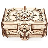 UGEARS 3D Wooden Puzzle Box - 3D Puzzle Antique Wooden Box Wooden Model Kits for Adults and Teens - Laser-Cut Mechanical Mode