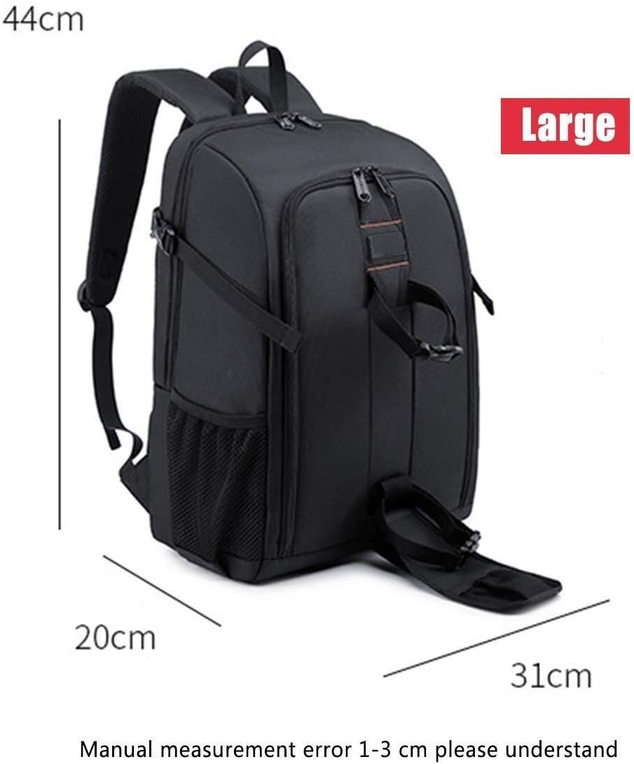 Size : M Stylish High-capacity Professional SLR Camera Backpack Waterproof Shock-proof Leisure Travel Bag Rain Cover Laptop Tripod Lens And Accessories Black Versatile orange Interior