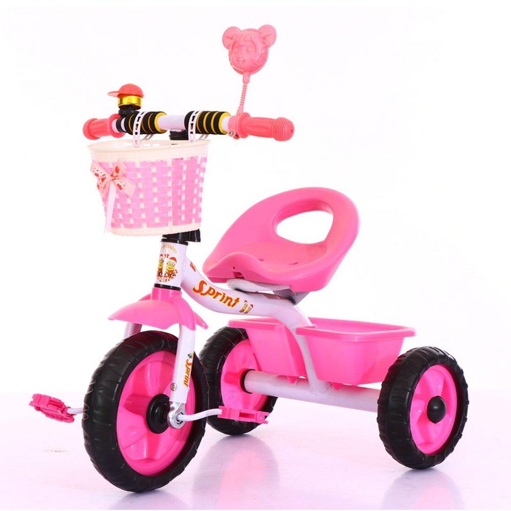 XQ 子供用三輪車軽量発泡ホイール1-3-5歳 子ども用自転車 ( 色 : ピンク ぴんく ) B07C7DJF73ピンク ぴんく