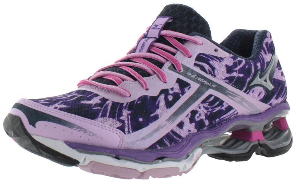 Mizuno Women's Wave Creation 15 Running Shoe B00EP064JW 7 B(M) US|Purple/White/Silver