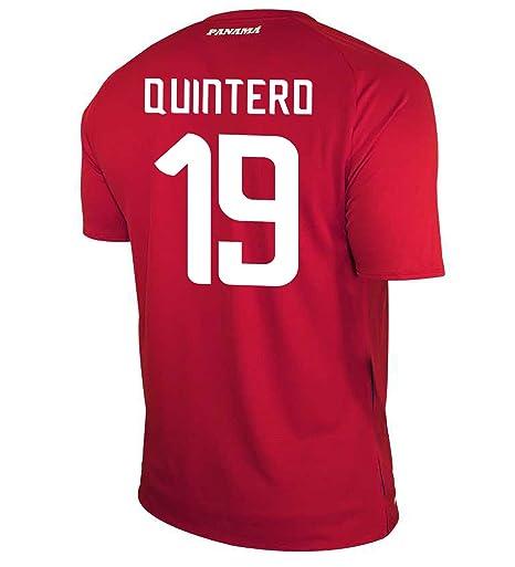 9eaf5d943ff New Balance QUINTERO  19 Panama Home Soccer Men s Jersey FIFA World Cup  Russia 2018 (