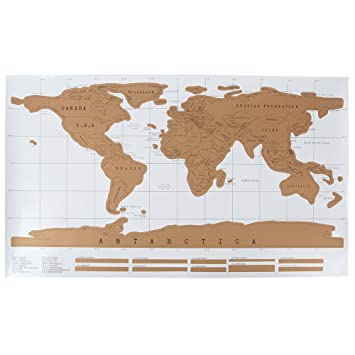 Jidetech deluxe travel world map poster amazon office products jidetech deluxe travel world map poster gumiabroncs Image collections