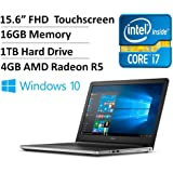 Dell Inspiron 15 5000 Series I5559 15.6 Inch Full HD Display Touchscreen Laptop (Intel Core i7-6500U 2.5GHz, 16GB RAM, 1TB HDD, 4GB AMD Radeon R5 M335 Graphics, Windows 10)