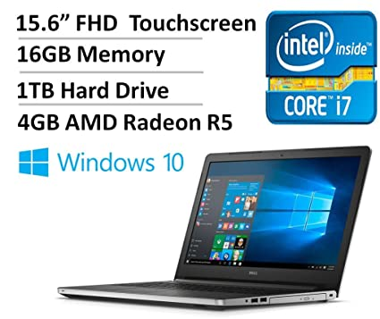 7bc92bce676 Dell Inspiron 15 5000 Series I5559 15.6 Inch Full HD Display Touchscreen  Laptop (Intel Core
