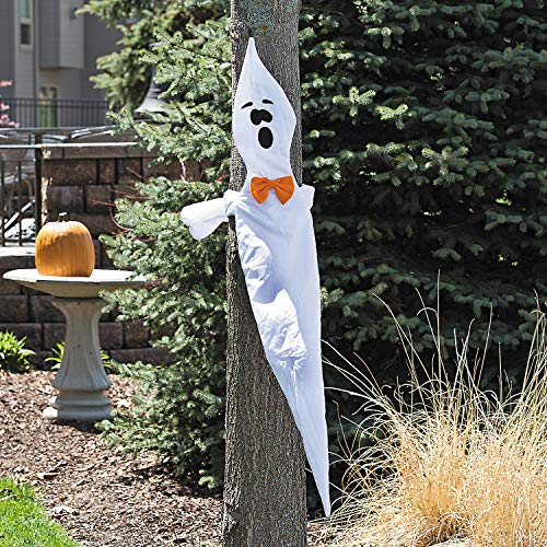 Fun Express - Fabric Ghost Tree Hugger for Halloween - Home Decor - Outdoor - Yard Art - Halloween - 1 -