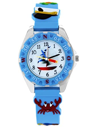 Armbanduhr kinder blau  Pacific Time Kinder-Armbanduhr Piraten Armbanduhr Kinder Jungen ...
