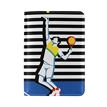 Amazon.com | Jojogood Young Padel Tennis Player Genuine Leather UAS Passport Holder Cover Travel Case | Passport Covers