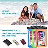 Beylife Waterproof Case, 3 Pack Universal Waterproof Phone Pouch Cell Phone Dry Bag for iPhone X 8/8 Plus 7/7 Plus 6/6S Plus Samsung Galaxy Note HTC LG Sony Nokia - up to 6 inch (Blue&Green&Orange)