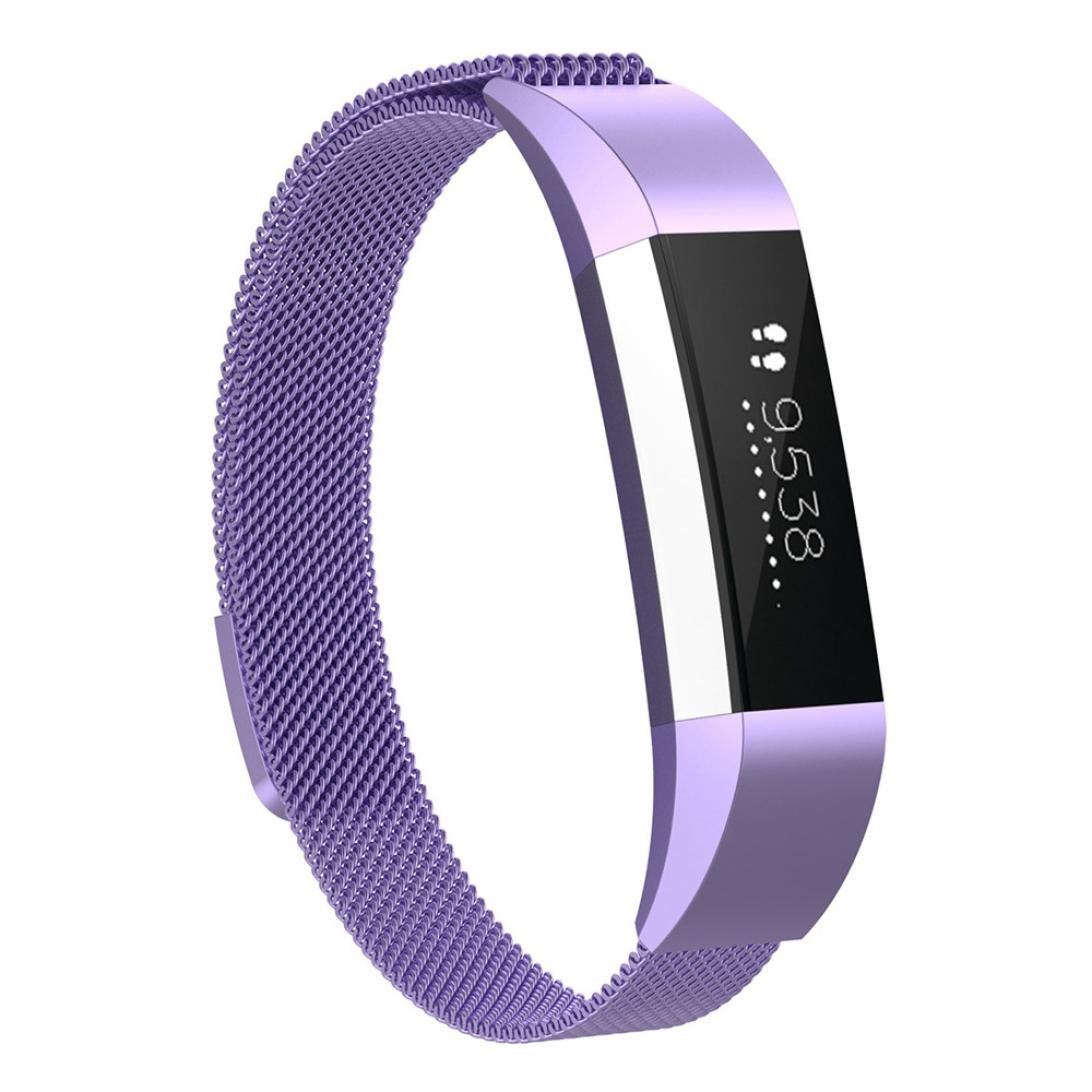 for Fitbit ACE Watch Band, Fullfun Stainless Steel Smart Watchband - Milanese Magnetic Loop Straps - (6.5-9.9inches) (C)