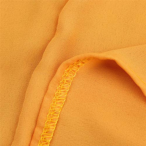 Dresses Elegant for Girls,Mlide Women's Sleeveless Summer Plain Pleated Dress Beach Party Casual Dress,Yellow XL by Mlide (Image #6)