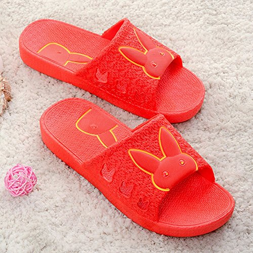 Simple Lady Color Non Indoor Summer Girls Slip Slippers Red Bath ANDAY Rabbit fEdSqfT