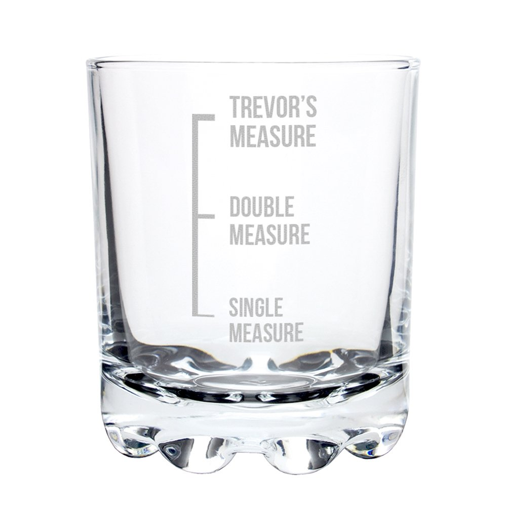 'Measures' Engraved Whiskey Glass pmc