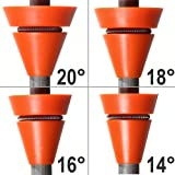 Wedgek Angle Guides 14°, 16°, 18°, 20° for Sharpening Knife on Honing Steel Ceramic or Diamond Rod - Orange