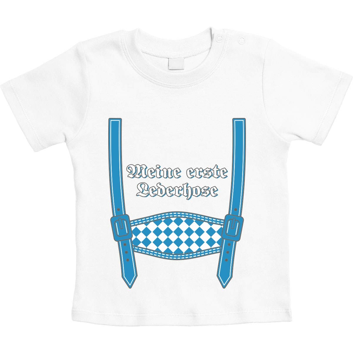 Oktoberfest Babys Unisex Baby T-Shirt Gr Meine erste Lederhose 66-93